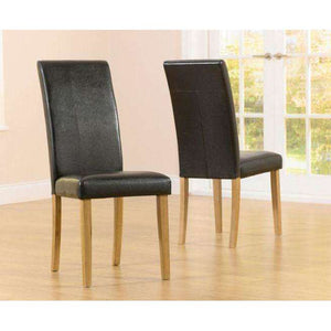 Furnish Our Home:Mark Harris Atlanta Brown Pu Dining Chair (Pair)