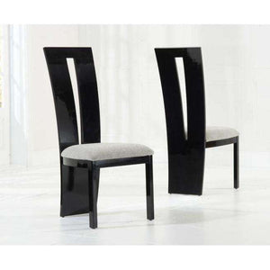 Furnish Our Home:Mark Harris Valencie Black Solid Wood And High Gloss Dining Chairs (Pair)