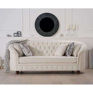 Furnish Our Home:Mark Harris Casey Ivory Linen 3 Seater Sofa