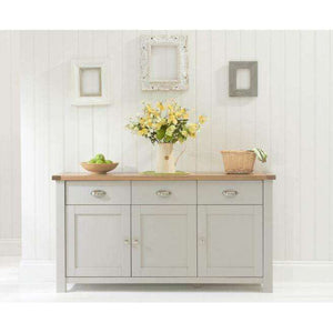 Furnish Our Home:Mark Harris Sandringham 3 Door 3 Drawer Sideboard Oak & Grey