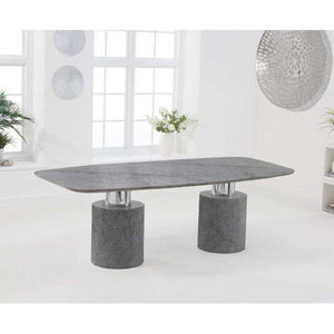 Furnish Our Home:Mark Harris Adeline 220cm Grey Marble Dining Table