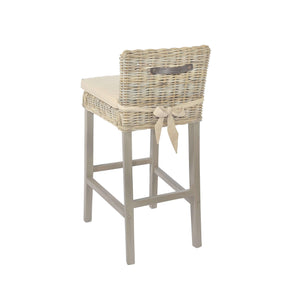 Furnish Our Home:Beco Living Mei Rattan - Grey Wash Bar Stool (Pair)