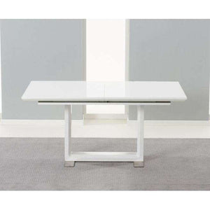Furnish Our Home:Mark Harris Beckley 160cm Solid Wood Table With White High Gloss Finish
