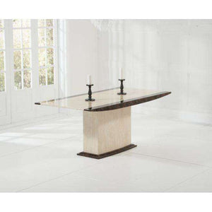 Furnish Our Home:Mark Harris Alba Cream & Brown Constituted Marble Dining Table