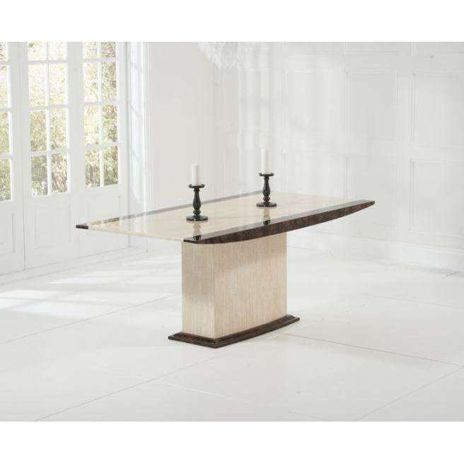 Mark Harris Alba Cream & Brown Constituted Marble Dining Table