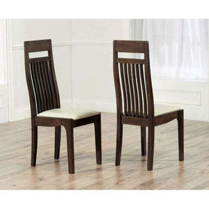 Furnish Our Home:Mark Harris Monte Carlo Dark Cream Chairs (Pair)