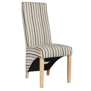 Furnish Our Home:Homestyle Striped Fabric Wave Chair (Natural) (Pair)