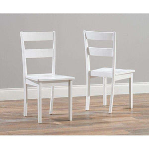 Furnish Our Home:Mark Harris Chichester White Dining Chair (Pair)