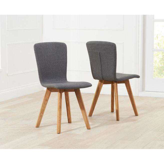 Mark Harris Tribeca Charcoal Grey Fabric Chairs (Pair)