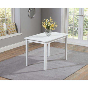 Furnish Our Home:Mark Harris Chichester Solid Hardwood & Painted 115cm Dining Table - White