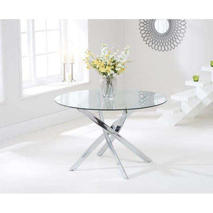 Furnish Our Home:Mark Harris Daytona 110cm Glass Round Dining Table