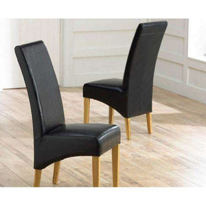 Furnish Our Home:Mark Harris Roma Black Chairs (Pair)
