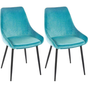 Furnish Our Home:Beco Living Scandi Oscar Chair Turquoise (Pair)