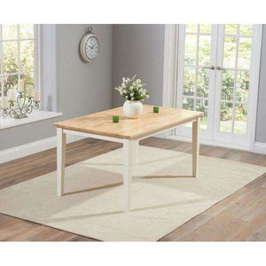 Furnish Our Home:Mark Harris Chichester Oak & Cream Dining Table 150cm