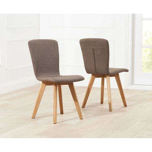 Furnish Our Home:Mark Harris Tribeca Brown Fabric Chairs (Pair)