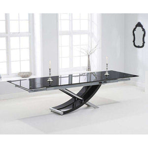 Furnish Our Home:Mark Harris Hanover 210cm Glass Extending Dining Table