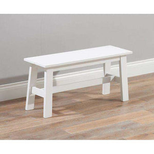 Furnish Our Home:Mark Harris Chichester White Bench (Use With 115cm Table)