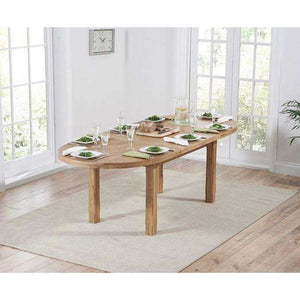 Furnish Our Home:Mark Harris Cheyenne Oval Oak Extending Dining Table