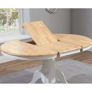 Furnish Our Home:Mark Harris Elstree Oak And White Extending Dining Table