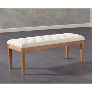 Furnish Our Home:Mark Harris Courtney Fabric Beige 120cm Bench