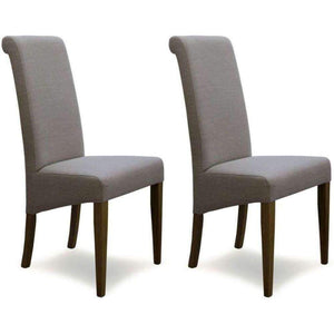 Furnish Our Home:Homestyle Italia Beige Fabric Chair (Pair)