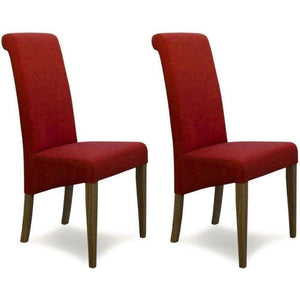 Furnish Our Home:Homestyle Italia Chilli Fabric Chair (Pair)