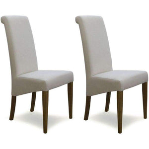 Furnish Our Home:Homestyle Italia Ivory Fabric Chair (Pair)
