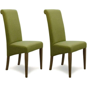 Furnish Our Home:Homestyle Italia Lime Fabric Chair (Pair)