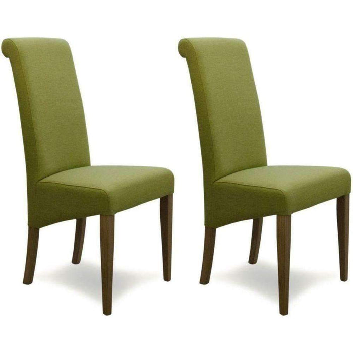 Homestyle Italia Lime Fabric Chair (Pair)