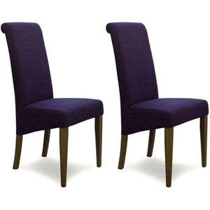 Furnish Our Home:Homestyle Italia Purple Fabric Chair (Pair)
