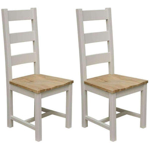 Furnish Our Home:Homestyle Painted Deluxe Ladder Back Chair (Pair)