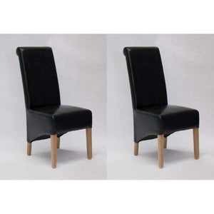 Furnish Our Home:Homestyle Richmond Black Dining Chair - Bonded (Pair)