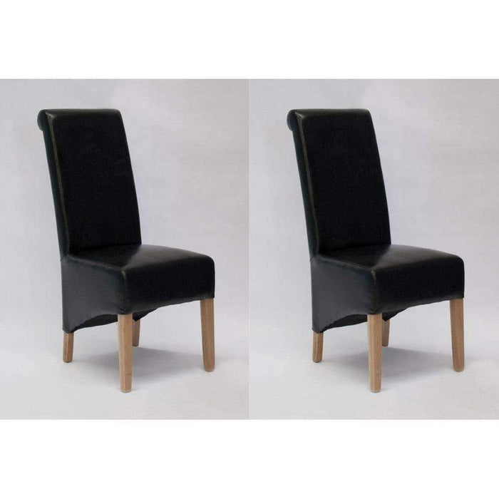 Homestyle Richmond Black Dining Chair - Bonded (Pair)