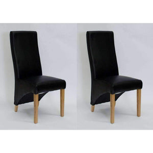Furnish Our Home:Homestyle Wave Noir Dining Chair  - Matt Bonded (Pair)