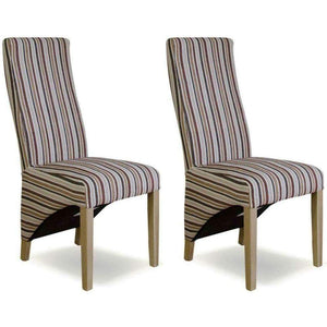 Furnish Our Home:Homestyle Striped Fabric Wave Chair (Royale) (Pair)