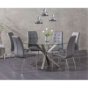 Furnish Our Home:Mark Harris Remus Round Glass Dining Table