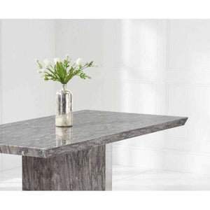 Furnish Our Home:Mark Harris Como 200cm Grey Marble Dining Table with 6 x Grey Malibu Chairs