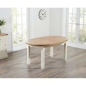Furnish Our Home:Mark Harris Cheyenne Oval Oak & Cream Extending Dining Table