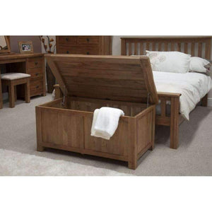 Furnish Our Home:Homestyle Rustic Oak Blanket Box
