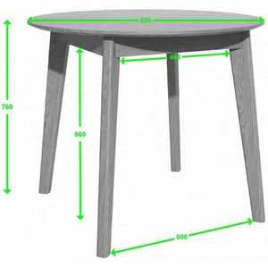 Furnish Our Home:Homestyle Scandic 950mm Round Dining Table