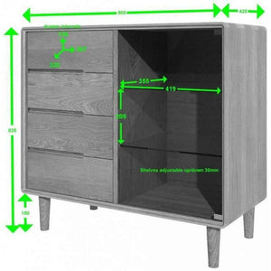 Furnish Our Home:Homestyle Scandic Small Glazed Chest