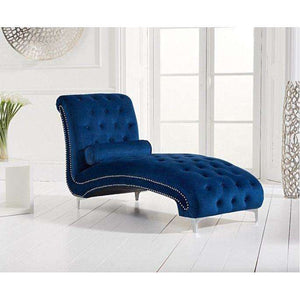 Furnish Our Home:Mark Harris New England Chaise Longue Blue Velvet
