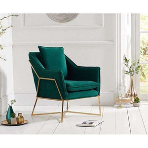Furnish Our Home:Mark Harris Larna Accent Chair - Green Velvet