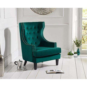 Furnish Our Home:Mark Harris Portia Accent Chair - Green Velvet