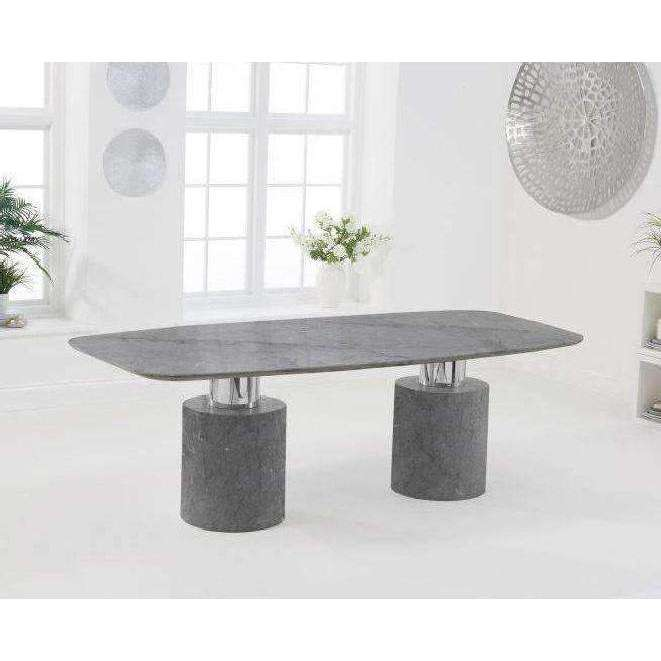 Mark Harris Adeline 220cm Grey Marble Dining Table