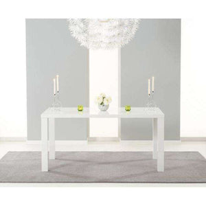 Furnish Our Home:Mark Harris Ava 160cm Mdf With White High Gloss Finish