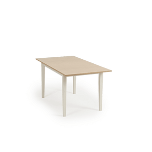 Furnish Our Home:Mark Harris Chichester Solid Hardwood & Painted 120cm Extending Dining Table - Oak & Cream