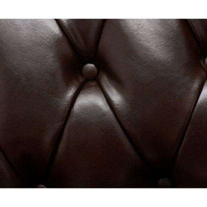 Furnish Our Home:Mark Harris Highgrove  Brown Leather 3 Seater Sofa With Dark Ash Wood Legs