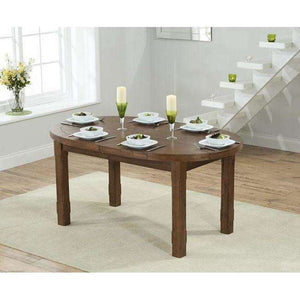 Furnish Our Home:Mark Harris Cheyenne Oval Extending Dining Table Dark Oak