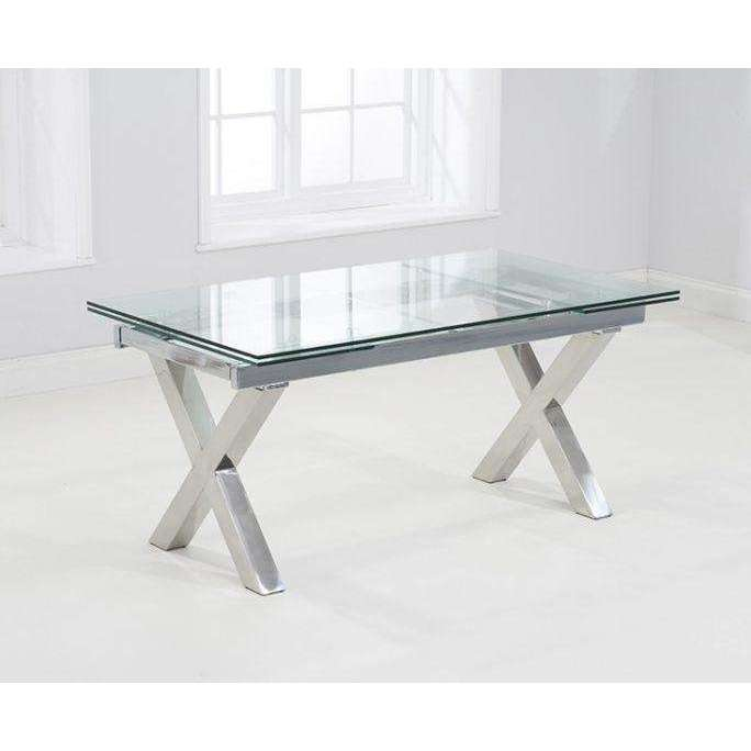 Mark Harris Cilento Glass Extending Dining Table 160-240cm